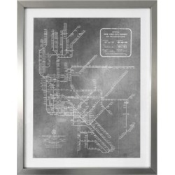 Framed New York Subway Map 1958 Print found on Bargain Bro Philippines from Saks Fifth Avenue Canada for $268.58