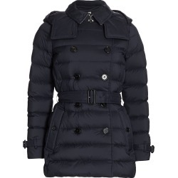 Burberry Women's Arniston Belted Short Puffer Coat - Midnight Blue - Size XS found on MODAPINS from Saks Fifth Avenue for USD $1120.00