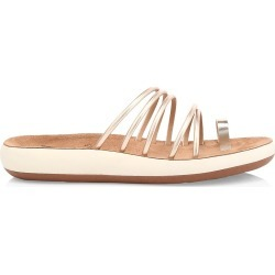 Ancient Greek Sandals Women's Hypatia Metallic Flatform Sandals - Platinum - Size 6 found on MODAPINS from Saks Fifth Avenue for USD $200.00