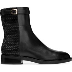 Lexi Grand Stretch Leather and Woven Ankle Boots found on Bargain Bro India from Saks Fifth Avenue Canada for $153.64