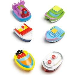 Six-Piece Boat Squirties Bath Toys