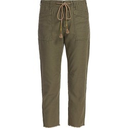 Free People Women's Drawn Up Boyfriend Pants - Army - Size XS