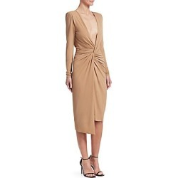 Alexandre Vauthier Women's Jersey Knotted Bodycon Dress - Fawn - Size 38 (6) found on MODAPINS from Saks Fifth Avenue for USD $837.00