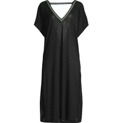 Pitusa Women's V-Back Coverup Dress - Black - Size XS found on MODAPINS from Saks Fifth Avenue for USD $96.00
