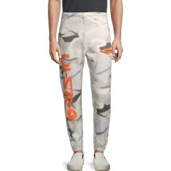 Heron Preston Men's Print Organic Cotton Sweatpants - Grey Multi - Size S found on MODAPINS from Saks Fifth Avenue OFF 5TH for USD $279.99