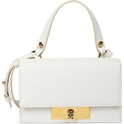 Alexander McQueen Women's Small Skull Lock Leather Top Handle Bag - Ivory found on MODAPINS from Saks Fifth Avenue for USD $1290.00