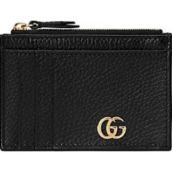 Gucci Women's GG Marmont Card Case - Black found on MODAPINS from Saks Fifth Avenue for USD $350.00
