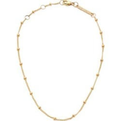 14K Yellow Gold Beaded Chain Anklet