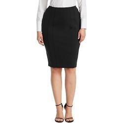 Ashley Graham x Marina Rinaldi Women's Ocraceo Pencil Skirt - Black - Size 12W found on MODAPINS from Saks Fifth Avenue for USD $255.00