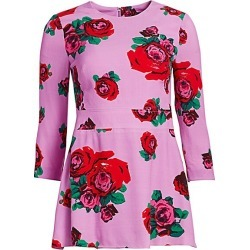 Lela Rose Women's Crepe Rose Print Peplum Top - Lavender Multi - Size 6 found on MODAPINS from Saks Fifth Avenue for USD $476.00