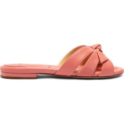 Alexandre Birman Women's Suelita Flat Leather Sandals - Salmon Pink - Size 7.5 found on Bargain Bro from Saks Fifth Avenue for USD $300.20