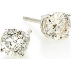 Clous d'oreilles en or blanc 18 ct et à diamants de 1 ct PT