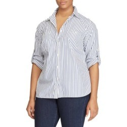 Size Striped Cotton Pocket Shirt found on Bargain Bro India from Lord & Taylor for $79.50