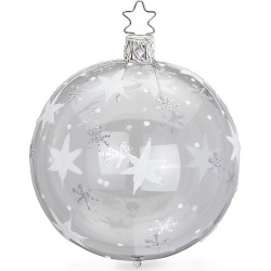 Inge's Christmas Decor Shining Star Glass Ball Ornament - Silver found on Bargain Bro India from Saks Fifth Avenue for $18.00