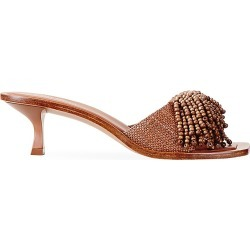 Cult Gaia Women's Uma Beaded Fringe Mules - Soil - Size 7 found on MODAPINS from Saks Fifth Avenue for USD $164.25