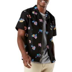 Garrido Pirate Print Short-Sleeve Island Shirt