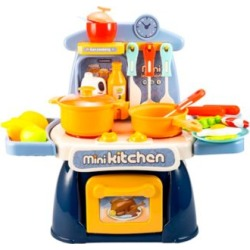 Kitchen Playset Cooking Toys Mini Kitchen Set Realistic Miniature Sounds Lights Chefs Pretend Play