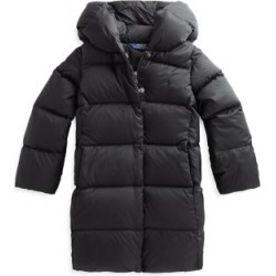 Girl's Down-Filled Quilted Hooded Coat