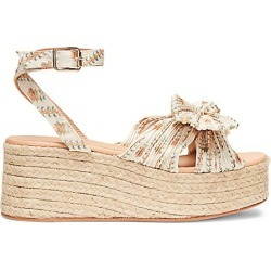 Loeffler Randall Women's Posey Pleated Knot Espadrille Platform Sandals - Flower - Size 7 found on MODAPINS from Saks Fifth Avenue for USD $295.00