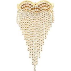 Crystal-Fringe Heart Hair Clip