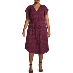 Plus Floral Tie-Waist Midi Dress found on Bargain Bro India from Saks Fifth Avenue OFF 5TH for $49.99