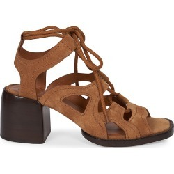 Chloé Women's Gaile Cutout Suede Sandals - Brown - Size 5.5 found on Bargain Bro from Saks Fifth Avenue for USD $501.60