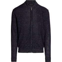 Saks Fifth Avenue Men's COLLECTION Lightweight Melange Full-Zip Sweater - Navy - Size XXL found on Bargain Bro from Saks Fifth Avenue for USD $122.21