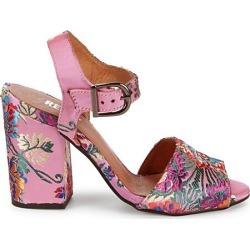 Brocade Block Heel Sandals