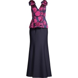 Aidan Mattox Women's V-Neck Colorblock Gown - Fuchsia Multi - Size 16 found on MODAPINS from Saks Fifth Avenue for USD $395.00
