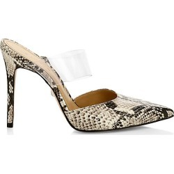 Schutz Women's Sionne PVC & Snakeskin-Embossed Leather Mules - Size 10.5 found on Bargain Bro Philippines from Saks Fifth Avenue for $170.00