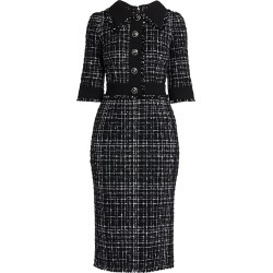 DOLCE & GABBANA Women's Tweed Pencil Dress - Black - Size 14 found on MODAPINS from Saks Fifth Avenue for USD $2495.00