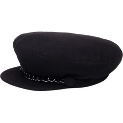 Eugenia Kim Women's Marina Chain-Trimmed Cashmere Newsboy Cap - Black found on MODAPINS from Saks Fifth Avenue for USD $325.00