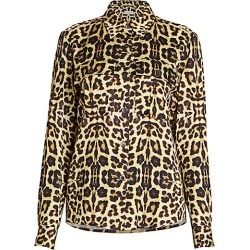 Dries Van Noten Women's Leopard-Print Blouse - Pale Yellow - Size 42 (10-12) found on Bargain Bro Philippines from Saks Fifth Avenue for $790.00