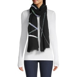 Janavi Women's Janavi India x Lotus Arts de Vivre Contemporary Sun Rays Cashmere Scarf - Black found on MODAPINS from Saks Fifth Avenue for USD $375.00