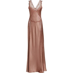 Alberta Ferretti Women's Satin Lace Slip Dress - Pale Pink - Size 8 found on MODAPINS from Saks Fifth Avenue for USD $2795.00