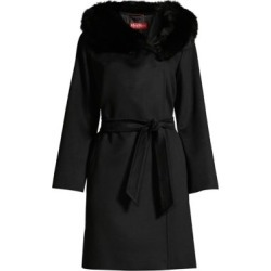 Fox Fur Trimmed Hooded Coat found on Bargain Bro India from Saks Fifth Avenue AU for $1603.09