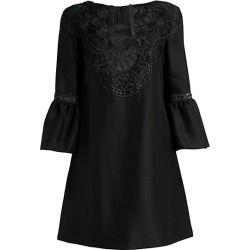 Alberta Ferretti Women's Bell-Sleeve Embroidered Tunic Dress - Black - Size 38 (2) found on MODAPINS from Saks Fifth Avenue for USD $1050.00