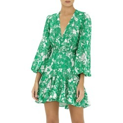 Alexis Women's Neala Floral Flounce Dress - Emerald Floral - Size XL found on MODAPINS from Saks Fifth Avenue for USD $594.00