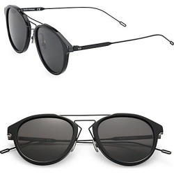 Dior Homme Men's 51MM Round Sunglasses - Black Grey found on MODAPINS from Saks Fifth Avenue for USD $410.00