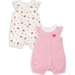 Baby Girl's 2-Piece Printed & Striped Cotton Romper Set found on Bargain Bro India from The Bay for $23.79