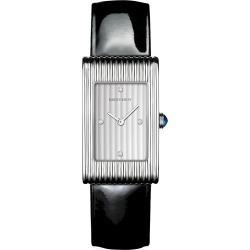 Boucheron Women's Reflet Steel, Diamond & Patent Leather Strap Medium Watch - Black found on MODAPINS from Saks Fifth Avenue for USD $4900.00