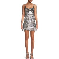 Cynthia Rowley Women's Ruffled Mini Dress - Metallic - Size 6 found on MODAPINS from Saks Fifth Avenue OFF 5TH for USD $74.99