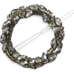 Dar Mixed Multicolor Crystal & Gunmetal-Tone Circular Barrette found on Bargain Bro Philippines from Saks Fifth Avenue Canada for $60.94