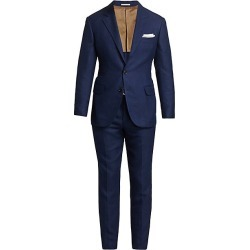 Brunello Cucinelli Men's Textured Hopsack Suit - Blue Marine - Size 48 (38) found on MODAPINS from Saks Fifth Avenue for USD $4045.00
