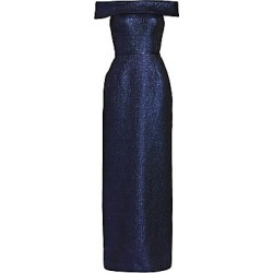 Teri Jon by Rickie Freeman Women's Off-The-Shoulder Metallic Jacquard Gown - Sapphire - Size 18 found on MODAPINS from Saks Fifth Avenue for USD $500.00