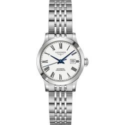 Longines Men's Record Collection Stainless Steel Bracelet Watch - White found on MODAPINS from Saks Fifth Avenue for USD $1875.00