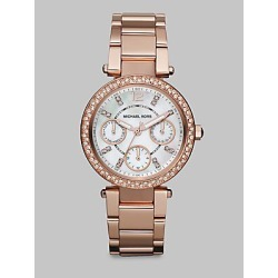 Michael Kors Women's Swarovski Crystal Multi-Function Watch/Rose Goldtone - Rose Gold found on Bargain Bro India from Saks Fifth Avenue for $275.00