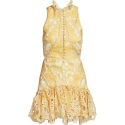 Acler Women's Resort Meredith Embroidery Flounce Mini Dress - Lemon Floral - Size 2 found on Bargain Bro India from Saks Fifth Avenue for $220.00