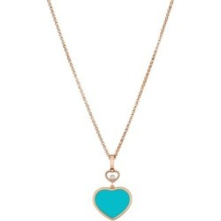 Happy Hearts 18K Rose Gold, Diamond & Turquoise Pendant Necklace found on Bargain Bro India from Saks Fifth Avenue AU for $2658.53