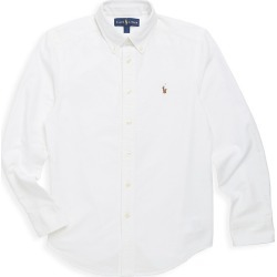 Ralph Lauren Little Boy's & Boy's Cotton Oxford Sport Shirt - White - Size 18 found on Bargain Bro India from Saks Fifth Avenue for $50.00
